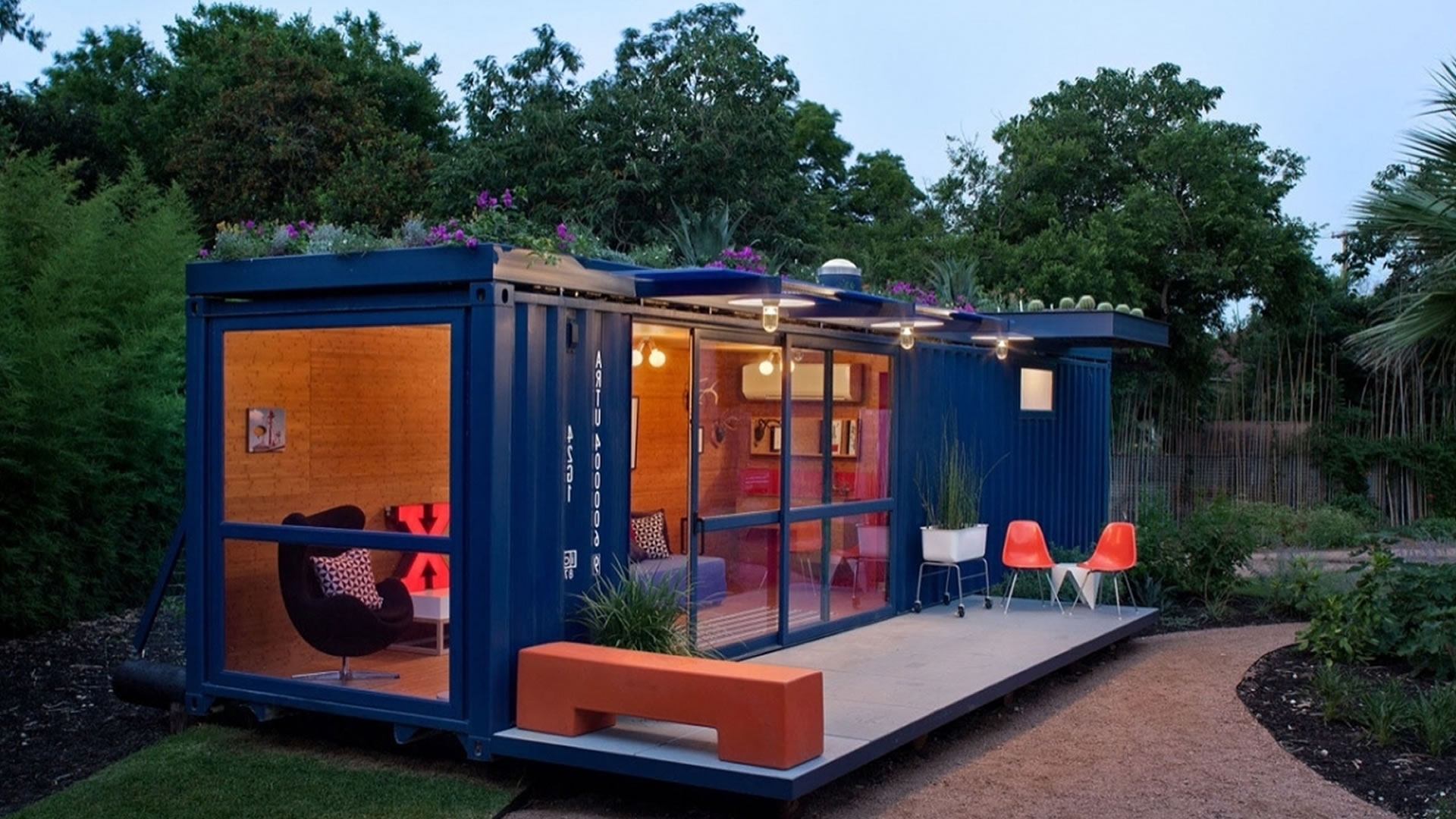 Converted Shipping Container To Garden Retreat Container Kings Thailand